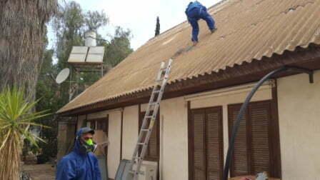 פרוק גג אסבסט בית פרטי