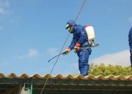 פירוק גג מחסן אסבסט במושב דקל