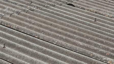 גג אסבסט של מוסך