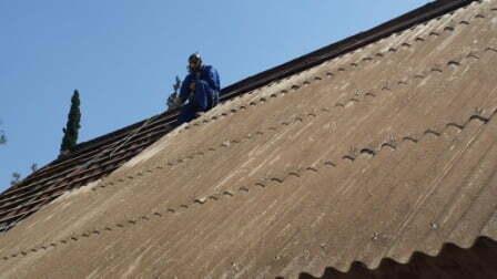 פירוק גג אסבסט בית פרטי