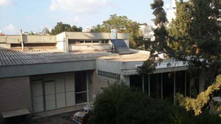 גג אסבסט בבית פרטי בתל אביב